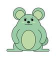 cute grumpy mouse icon image vector image
