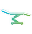 dental stretcher isolated icon vector image vector image