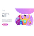 doping test concept landing page vector image vector image
