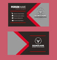 ed black lightgray color business card imag vector image vector image