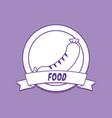 emblem of food design vector image vector image
