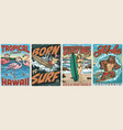 extreme surfing vintage colorful posters vector image vector image