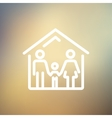Family house thin line icon vector image vector image