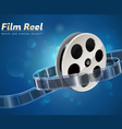 film reel movie cinema object vector image vector image