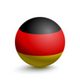 flag of germany in the form of a ball vector image