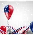 Flag of Samoa on balloon vector image vector image