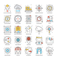 Flat Color Line Icons 17 vector image vector image