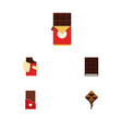 flat icon cacao set of shaped box chocolate vector image vector image