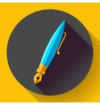 Fountain pen - icon flat design vector image