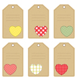 Gift tags with hearts vector image vector image