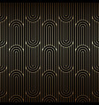 golden art deco pattern seamless linear background vector image vector image