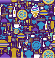 Gourmet icon set seamless pattern vector image