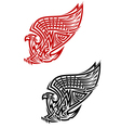 Griffin symbol in celtic style vector image vector image