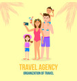 happy family on summer vacation parents and kids vector image vector image