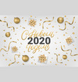 happy new year 2020 lettering text in russian vector image vector image