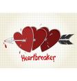 Heartbreaker vector image