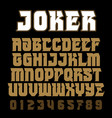 heavy metal alphabet brutal font typography for vector image vector image