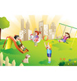 kids in playground vector image