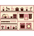 Kitchen ware and home objects set vector image vector image