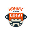 knight escb logo premium club vintage badge or vector image
