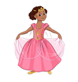 little girl in costume princess vector image vector image