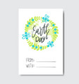 love my planet greeting card earth day holiday vector image vector image
