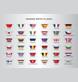 masks with flags vector image vector image