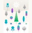 merry christmas landscape concept vector image vector image