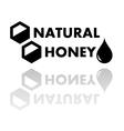 natural honey symbol vector image
