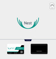 nest logo template free business card design vector image vector image