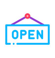 open nameplate icon outline vector image