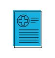patient file icon medical report analysis vector image vector image