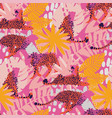 pattern cheetahs surrounded exotic vector image