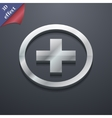 Plus icon symbol 3D style Trendy modern design vector image vector image