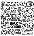 school - doodles set vector image vector image