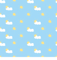 Seamless summer background with sun cloud sky vector image vector image