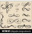 set of calligraphic design elements and pag