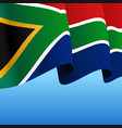 south african flag wavy abstract background
