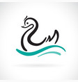 swan design on a white background wild animals vector image vector image