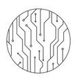 technology future circuit circle vector image vector image