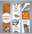 thanksgiving day banners collection of hand drawn vector image vector image