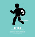 Thief Black Symbol Graphic vector image vector image
