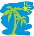 tropical holiday graphic vector image