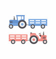 two tractor with trailer vector image