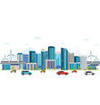 urban landscape with large modern buildings vector image vector image