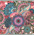 vintage pattern in indian batik style floral vector image