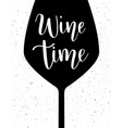 wine time lettering vector image