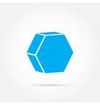 emblem hexagon vector image