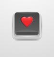 Button Heart icon vector image