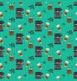 coffee machine pattern vector image